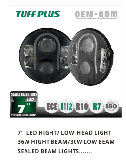 high quality hotselling 7 inch 80w dot emark r7 r112 approval round led headlight 12v 24v for je-ep