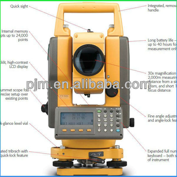 CONSTRUCTION SURVEYING INSTRUMENT GTS 102N topcon robotic total station