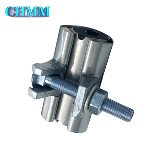 Industrial Full Pipe Coupling Snap Repair Round Metal Fittings SS304 Pipe Repair Clamp