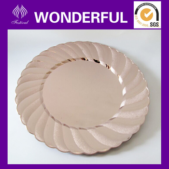 Wholesale Gold Disposable Plastic Charger Plates - Buy Gold Charger ...