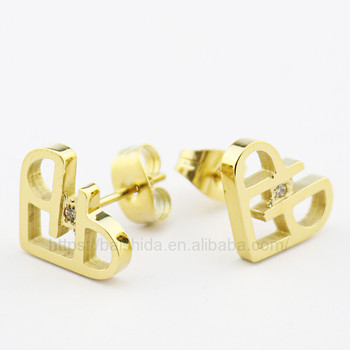 heart shaped stud earrings asian bridal accessory jewelry for couple