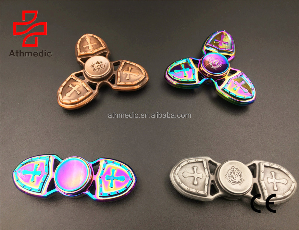2018 Athmedic 3 Leaves Rainbow Fidget Spinner Hand Fingertip EDC Focus Toy Relieving your Stress Anxiety ADHD and Boredom
