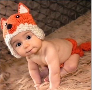 cute fox design baby photo props