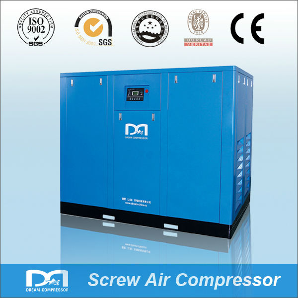 7.5kw~250KW 8bar industrial air cooling stationary twin rotry screw Airbrush Compressor for mining sandblasting