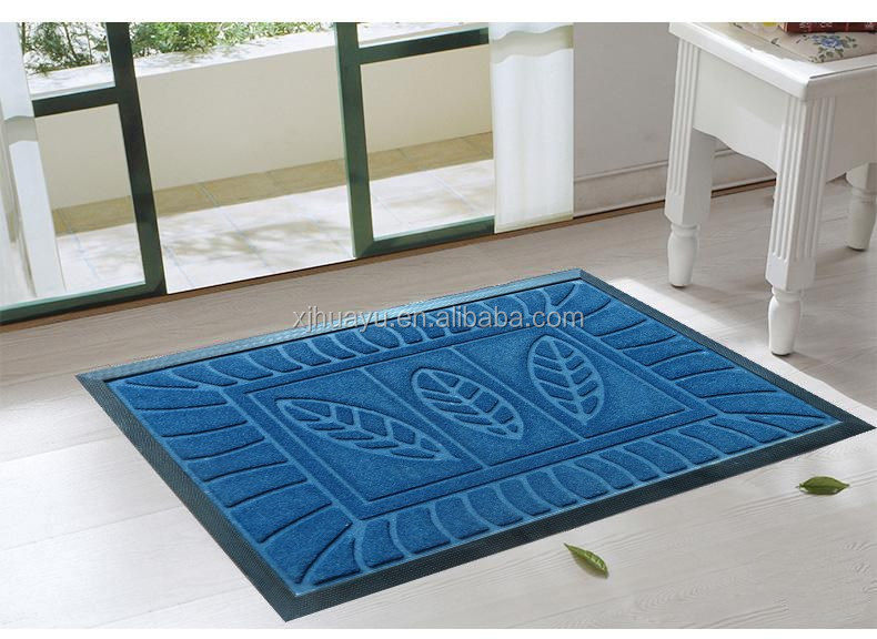Hot selling recycled rubber polyester Door floor mat