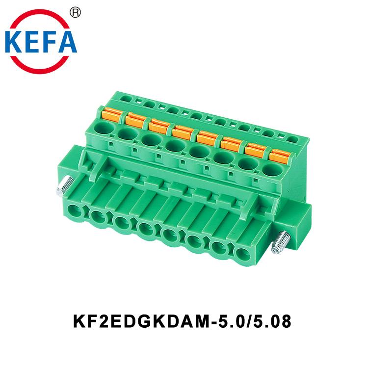 KF2EDGK-5.0 5.0mm Pitch Plastic China Supply Plug In Terminal Block