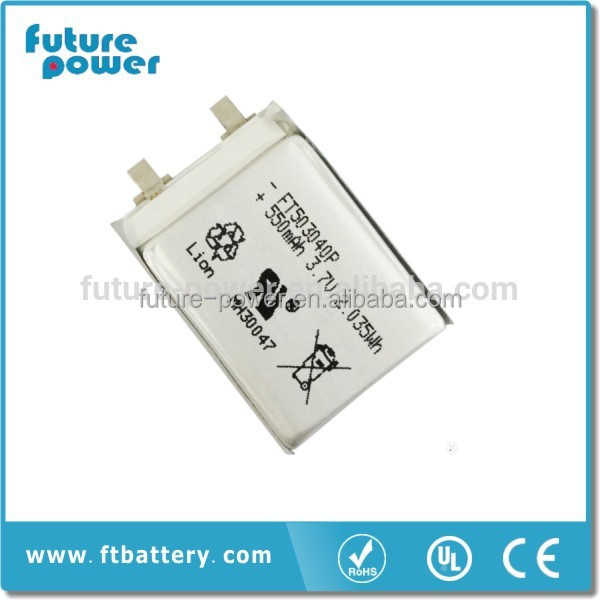 Lipo Battery FT503040P 3.7v 550mAh Lithium Polymer Battery Rechargeable Battery Good Quality OEM