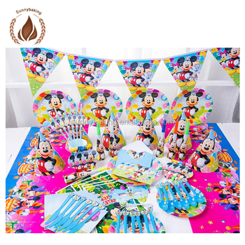 Wholesale Kids Theme Birthday Decorations Sets Party Supplies For Girls And Boys