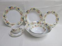 Table Decoration Porcelain Dinner Set with Full Decal,New Shape Dinnerware Porcelain