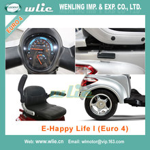 Factory sale electro scooter moped electrice 800W 3 wheel Electric with Euro 4 EEC COC (E-Happy Life I)