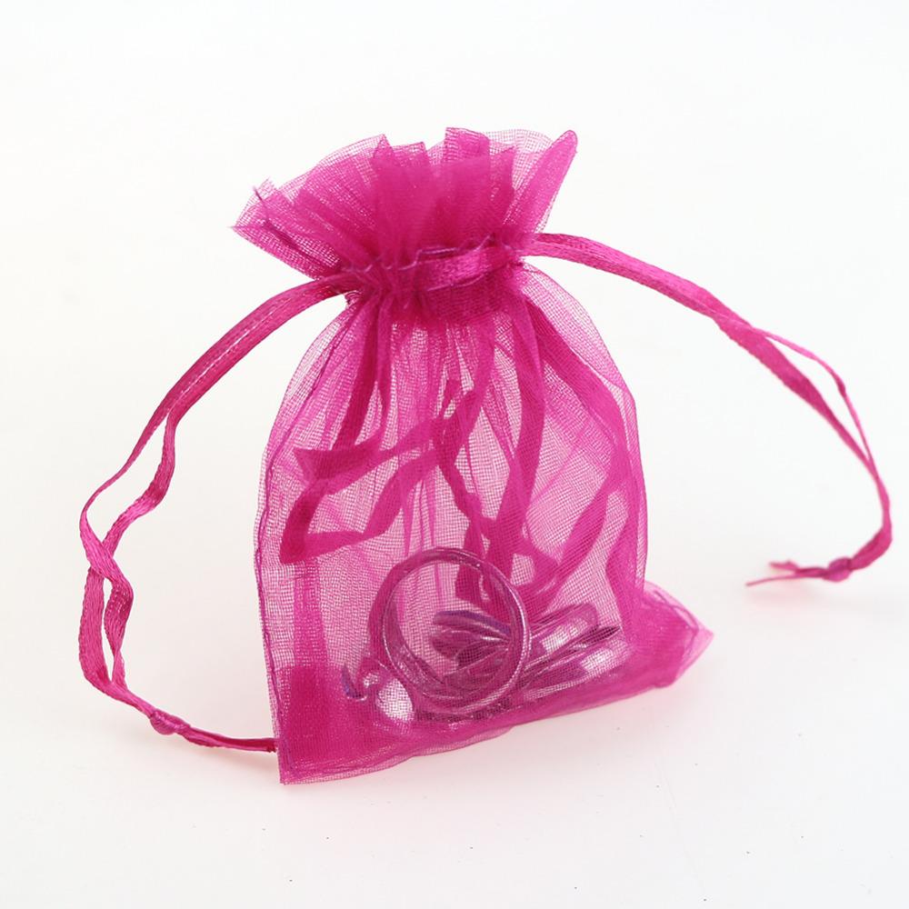 Buy 7x9cm Organza Bags Pink Drawstring Bags Custom Printed Bags ...