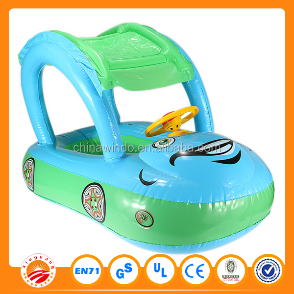 factory custom fashion car type shade blue big inflatable baby swimming pool for sale
