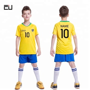 Wholesale Youth Best Soccer Jersey Custom Logo Print Kids Soccer Uniform Set