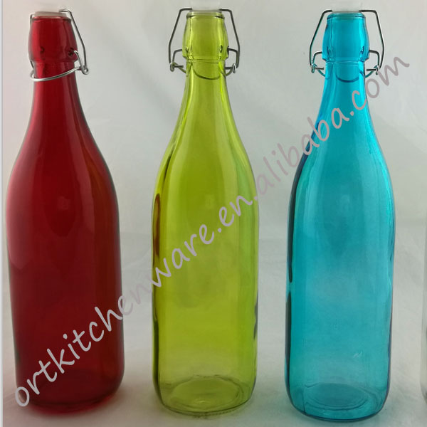 China wholesale custom mason straight wall glass beverage jar container 1000ml