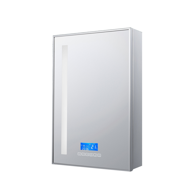 Smart Bathroom Mirror Cabinet With Digital Clock And Bluetooth Lighted Medicine Ip44