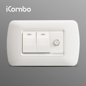 New Design Multimedia Socket and PC Wall Switch In Local Market
