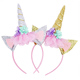 New design unicorn flower baby plastic hair band head band