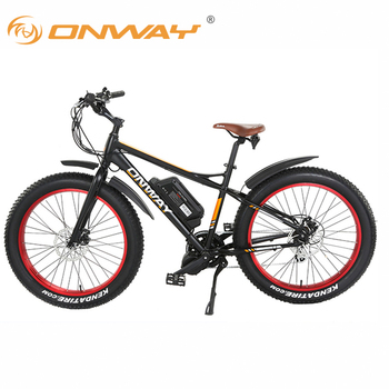 "900660266ad ONWAY 26"" Snow & Beach Fat Tire Electric Bike, All Terrain Using with  Pedal"
