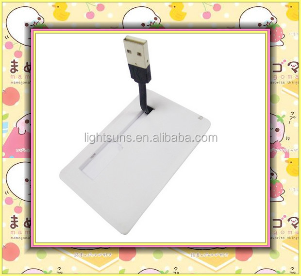 Manufacture wholesale customized logo plastic business credit card usb flash drive