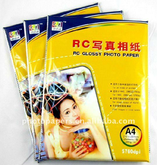 Tamaño a6 rc glossy photo paper