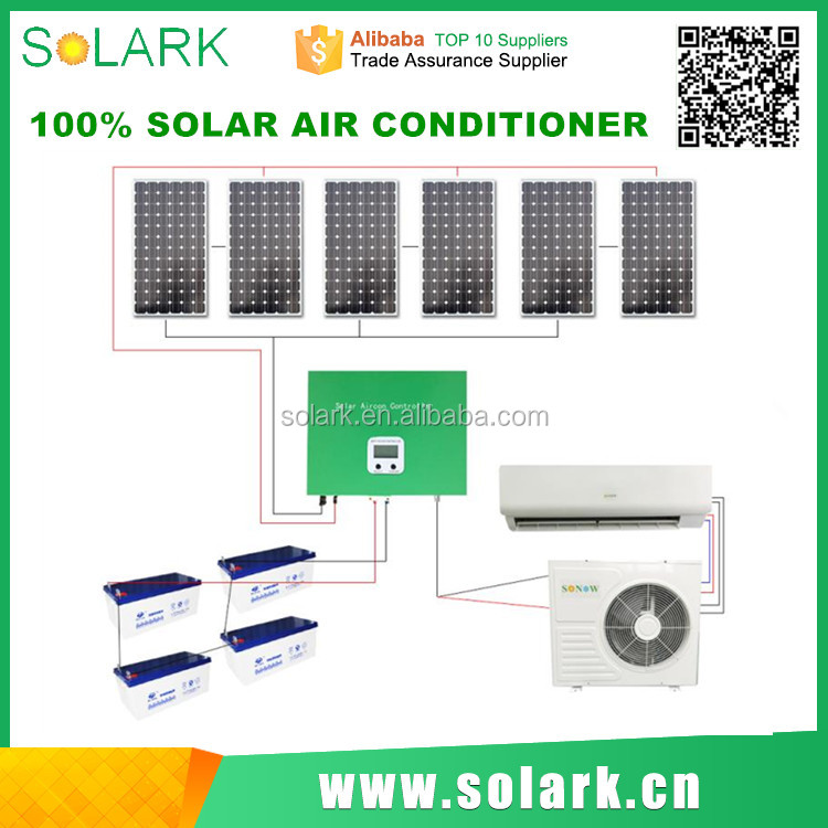 solar powered air conditioner with mini split ac
