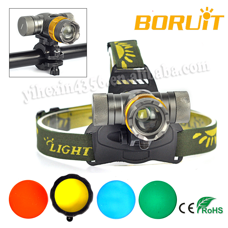 HIGH QUALITY Multi functional RGBW 4 Color LED Headlamp with Light Filter RJ-0306