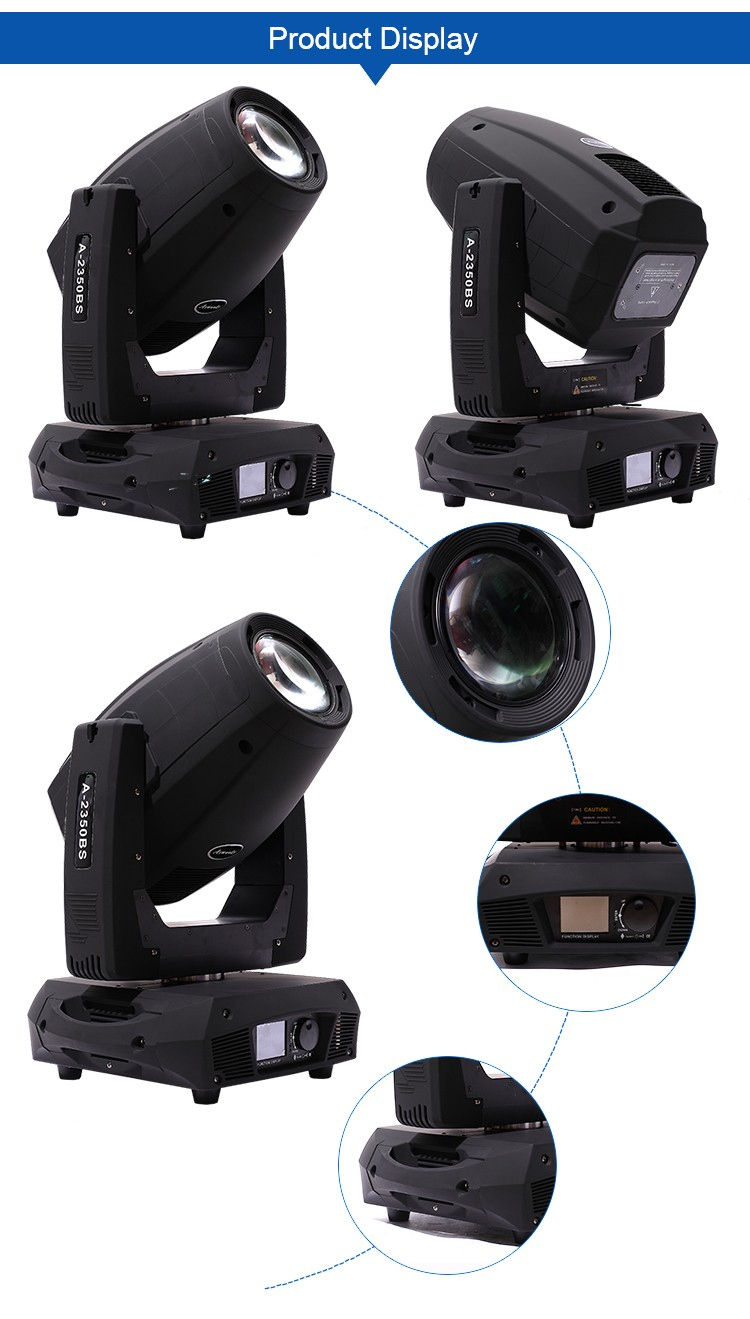 Anti-water 8300k stage lighting 330w 17r sharpy beam moving head light