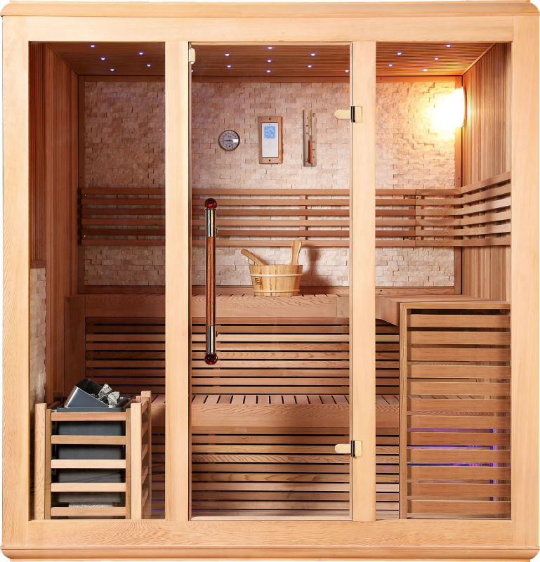 Traditional sauna room manufacturing red cedar outdoor Finnish saunas