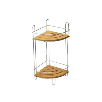 Free Standing Corner Bamboo Shower Caddy Bath Organizer Buy