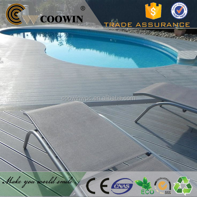 6x1inch wpc PE decking composite or vinyl