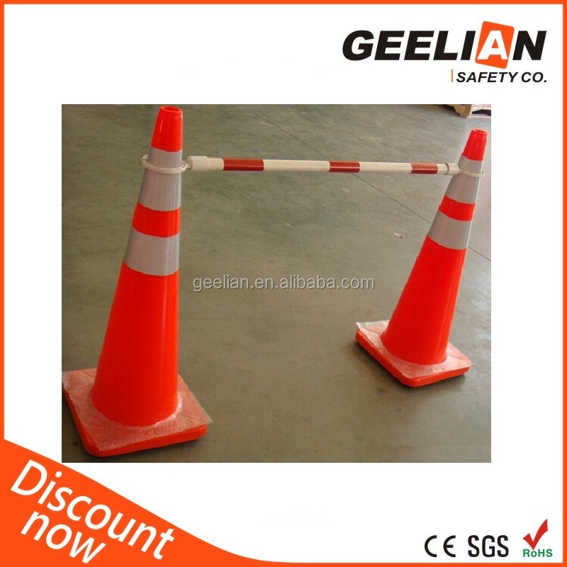 Wholesale ABS Plastic Retractable Traffic White Red Cone Bar