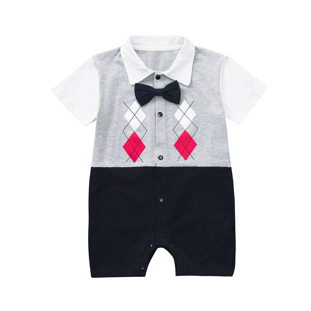 92e2ef6a82a3 Faber3 Baby Boy Romper Baby Boy Beard Print Short Sleeve Romper Jumpsuit  Outfit Clothes Baby Boys