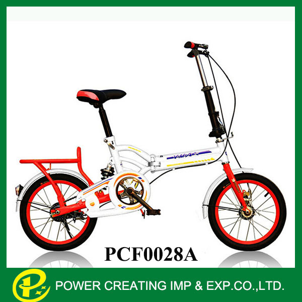 Mixed colours 16inch single speed bright folding bike
