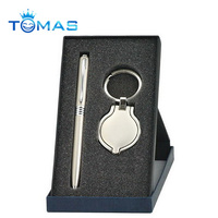 Classic ball pen and keychain boxed set for 2018 promotional products