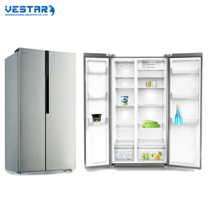 Stainless Steel Refrigerator hot selling side by side refrigerator with water dispenser&ice maker fridge