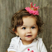 2017 New fashion baby infant crown headband