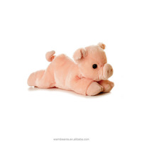 Best price Suntown high quality super soft plush stuffed pink lying prone pig toys for kids