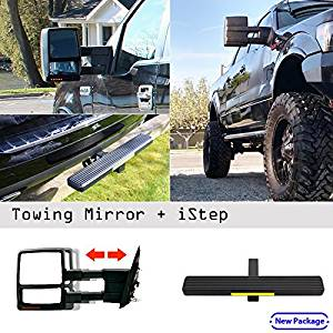 Get Quotations  C B Ford F  Power Heated Signal Texture Cover Towing Mirror Pair