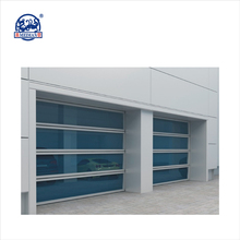 Exterior low prices Aluminum Transparent Security Sectional Garage Door With Ce