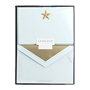 Crane & Co. Hand Engraved Starfish Correspondence Card (RC3302)