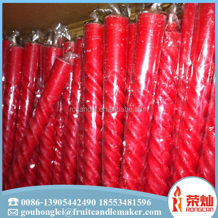 Colorful candle factory wholesale 23g 25g sprial wax candle in factory price