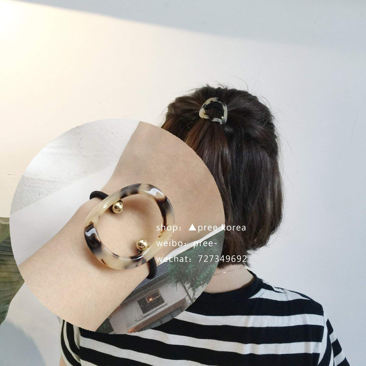usongs Korea hawksbill rings and simple light brown hair ring Tousheng elegant route Acrylic