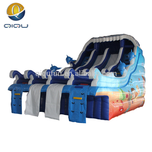 2016 new arrival indoor dolphin sea world slide/commercial inflatable water slides