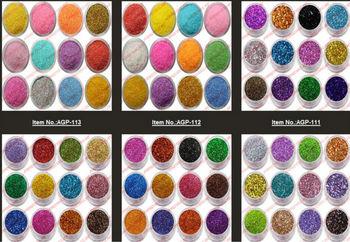 Mix Color Nail Art Laser Glitter Acrylic Powder Acryle Brand Ezflow Polish Beauty Agp