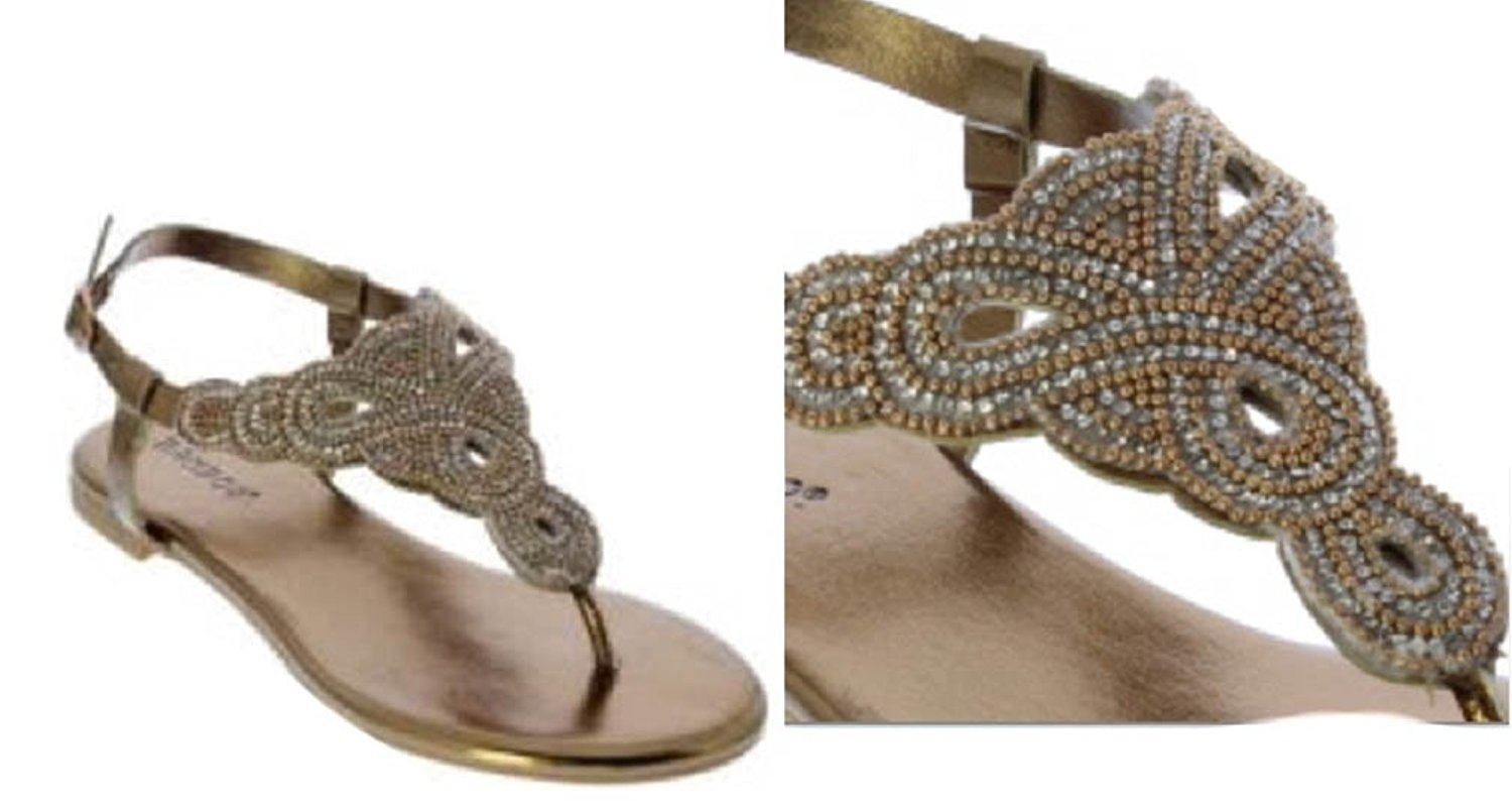 be47b0c65 ... Embellished Flat Sandal - Black Nubuck PU null. Bamboo Magical-33 Women  Rhinestone Bejeweled Flat Sandal - T-Strap Thong Slide On
