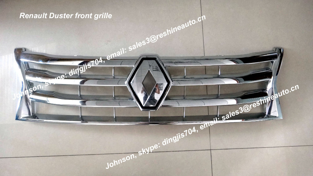 renault duster front grille 623825665r, 623100260r
