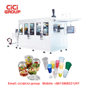 PLA corn starch biodegradable cup making machine thermoforming plate  container maker