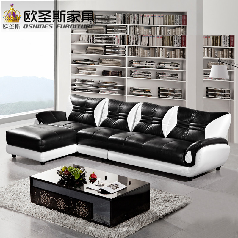 turkish sofa <strong>furniture</strong> black and white modern l shaped corner shiny leather sectional sofa set designs for drawing room 621