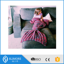 Belababy Girl Wool Knitted Mermaid Tail Blanket 2016 New Handmade Children Sleeping Throw Bed Wrap Girls Thicken Sleeping Bags
