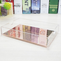 cost-effective cube rose gold plastic acrylic memo pad holder for office school